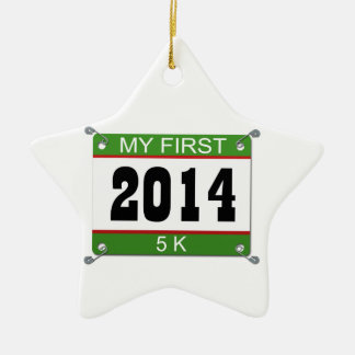My First 5K - 2014 Ceramic Star Decoration