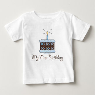 My First Birthday Cake Boy T shirt