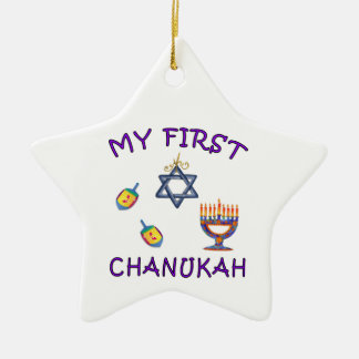 My First Chanukah Ceramic Star Decoration