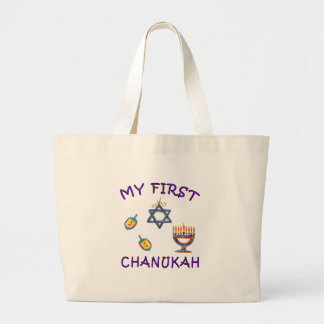 My First Chanukah Large Tote Bag