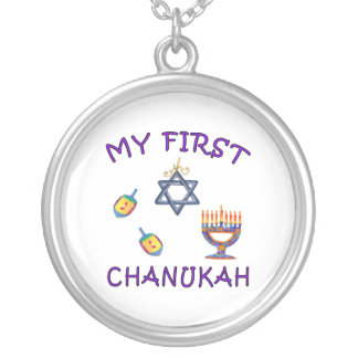My First Chanukah Round Pendant Necklace