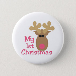 My First Christmas 6 Cm Round Badge