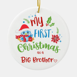 My First Christmas as a Big Brother photo / year Christmas Ornament