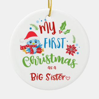 My First Christmas as a Big Sister photo / year Christmas Ornament