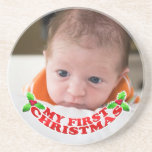 My First Christmas Baby Coaster