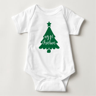My First Christmas Baby Onesy Baby Bodysuit