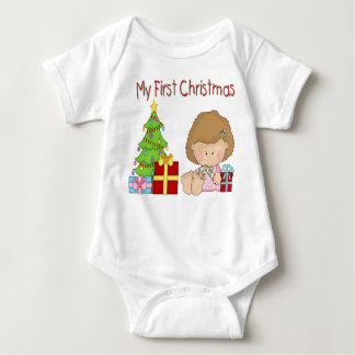 My First Christmas Girl Infant Creeper