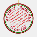 My First Christmas In College Photo Frame