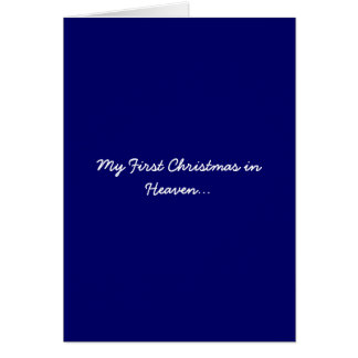 My First Christmas in Heaven Blue Greeting Card