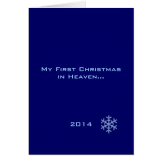 My First Christmas in Heaven Blue Snowflake Greeting Card
