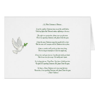 My First Christmas in Heaven Dove Greeting Card