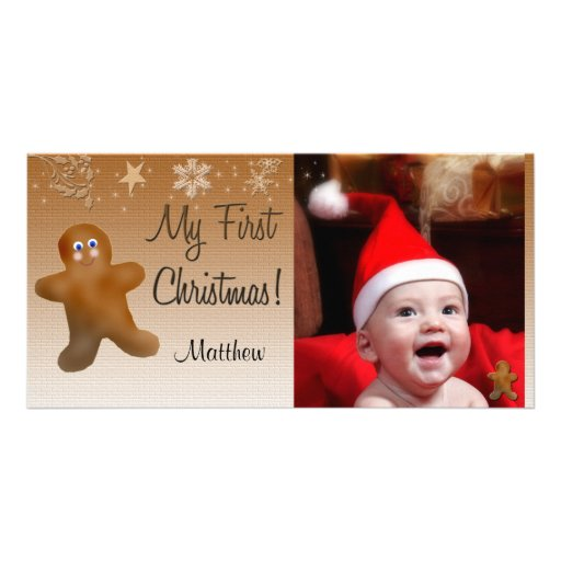 My First Christmas Photo Card Template