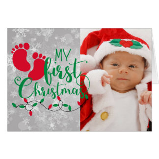 My First Christmas Photo Christmas Card