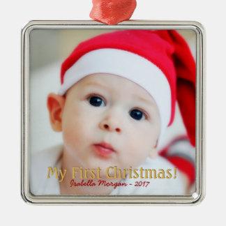 My first christmas photo christmas ornament