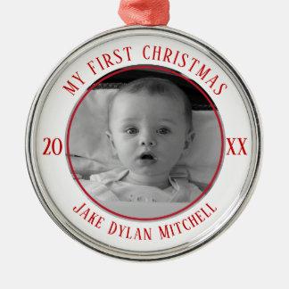 My First Christmas Photo Ornament Keepsake New