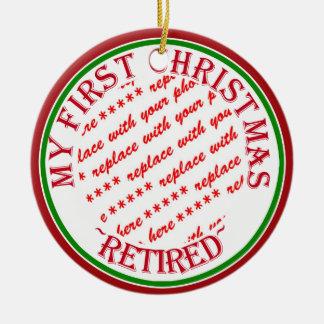My First Christmas Retired Photo Frame Round Ceramic Decoration
