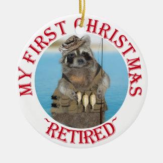 My First Christmas Retired Round Ceramic Decoration