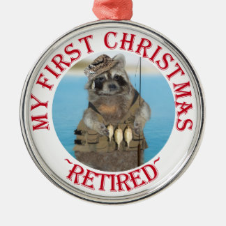 My First Christmas Retired Silver-Colored Round Decoration