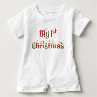 My First Christmas Romper Baby Bodysuit