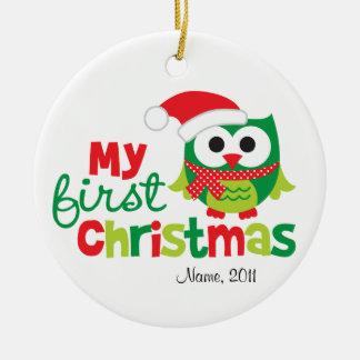 My First Christmas Santa Owl Christmas Ornament