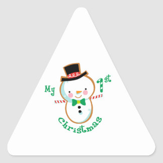 My first Christmas Triangle Sticker