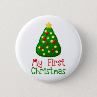 My First Christmas Tree 6 Cm Round Badge
