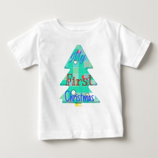 My first Christmas. Tree design. Baby T-Shirt
