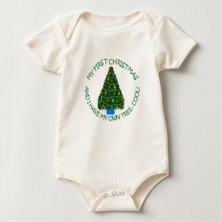 My First Christmas Tree Shirt. Baby Bodysuit