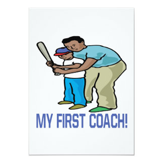 My First Coach 13 Cm X 18 Cm Invitation Card