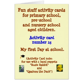 My first Day at School Cards