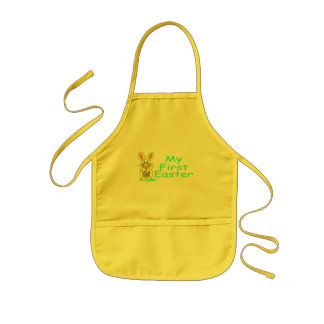 My First Easter Green Kids Apron