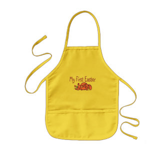 My First Easter Purple Easter Bunny Kids Apron