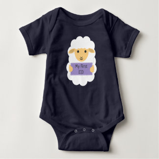 My first eid - baby sheep baby bodysuit