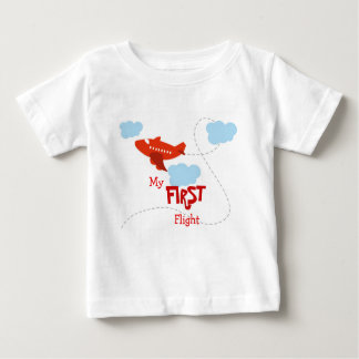 My First Flight Baby T-Shirt