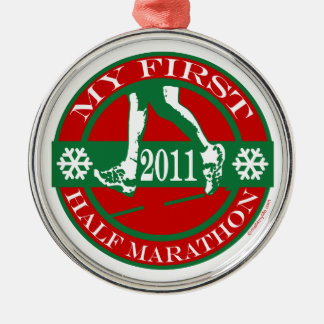 My First Half Marathon - 2011 Christmas Ornament