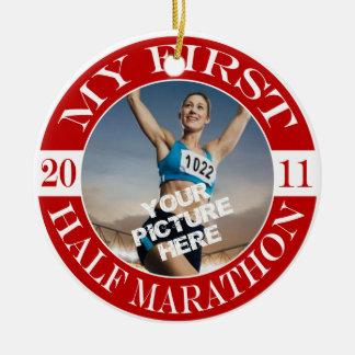 My First Half Marathon - 2011 Round Ceramic Decoration