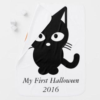 My first Halloween 2016 Cute cat kitty pumpkin Pramblanket