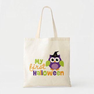 My First Halloween Witch Owl Tote Bag
