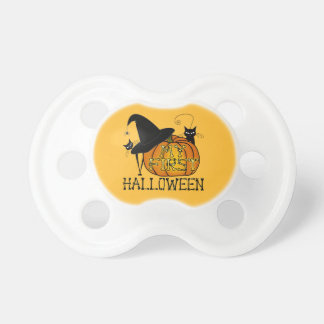 """""""My First Halloween"""" Witch's Hat, Cats, Pumpkin #2 Baby Pacifiers"""