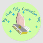 My First Holy Commmunion Day Gifts Classic Round Sticker