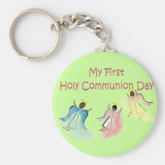 My First Holy Communion Day Gifts Basic Round Button Key Ring