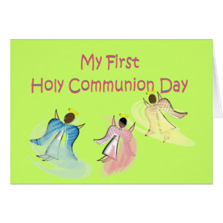 My First Holy Communion Day Gifts Greeting Card