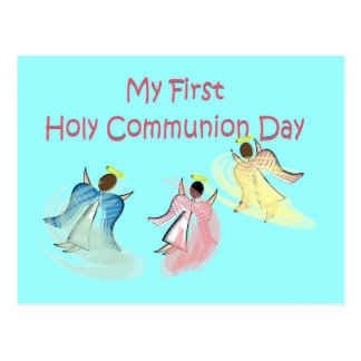 My First Holy Communion Day Gifts Postcard