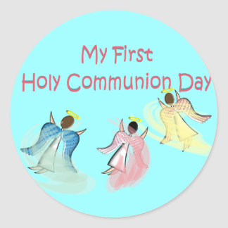 My First Holy Communion Day Gifts Classic Round Sticker