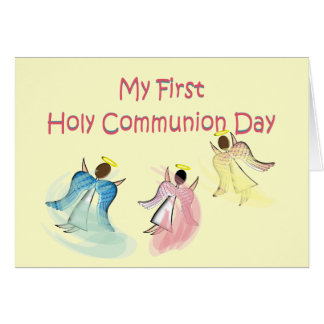 My First Holy Communion Day Greeting Card