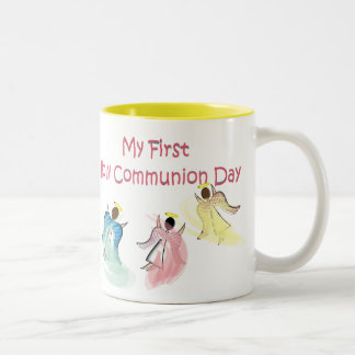 My First Holy Communion Day Two-Tone Coffee Mug
