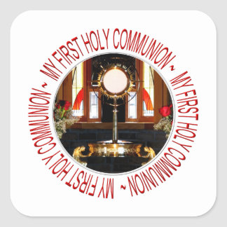 My First Holy Communion Square Sticker