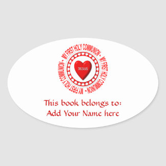 My First Holy Communion Oval Stickers