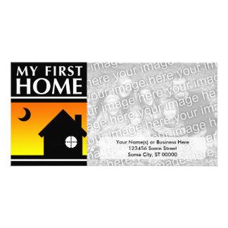 my first home (mod sunrise) custom photo card