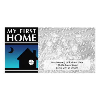 my first home (mod sunset) photo greeting card